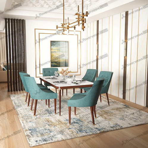 A La Mode Dining Table in Luxurious Set Up