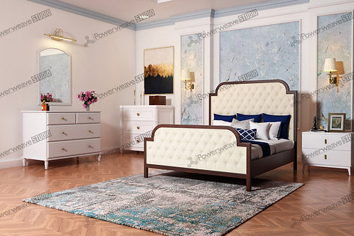 Colonial Style Bed in Bedroom Set Up