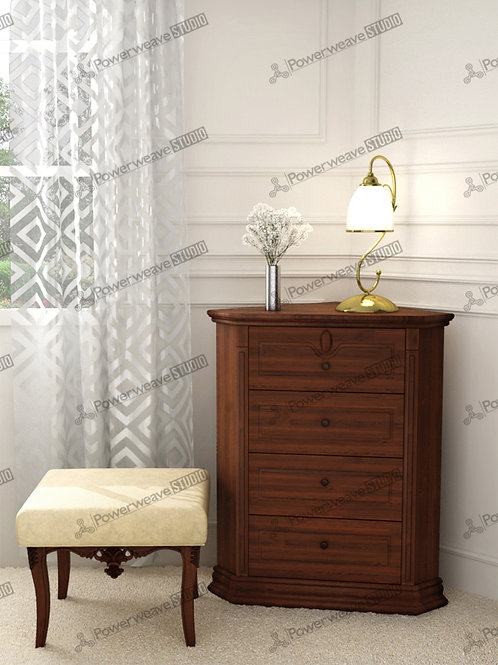 Traditional Pouf and Side Table