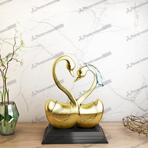 Modern Gold Swan Decor