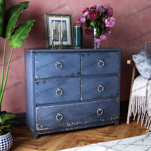 Rustic Bedside Chest in Simple Bedroom