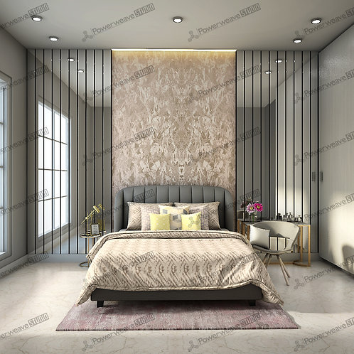 Modern Contemporary Bedroom with Bed
