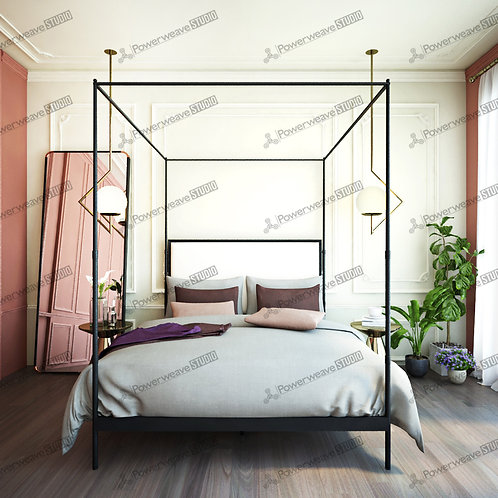 Modern Bedroom with Contemporary Bed