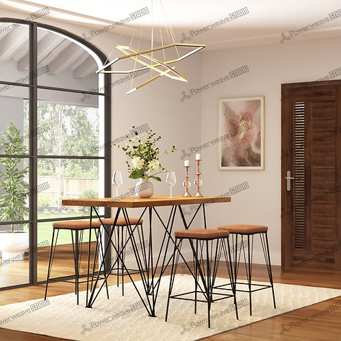 Contemporary High Table Dining Set Up