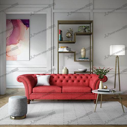 Contemporary Sofa and Rug Set