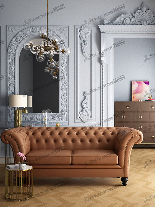 Classic Sofa in Colonial Style Living Room