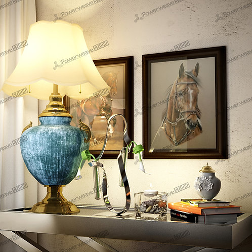 Rustic Lamp and Table Decor