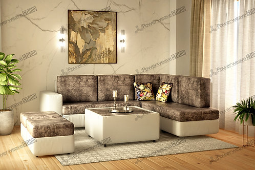 Contemporary Sofa in Beautiful Living Room