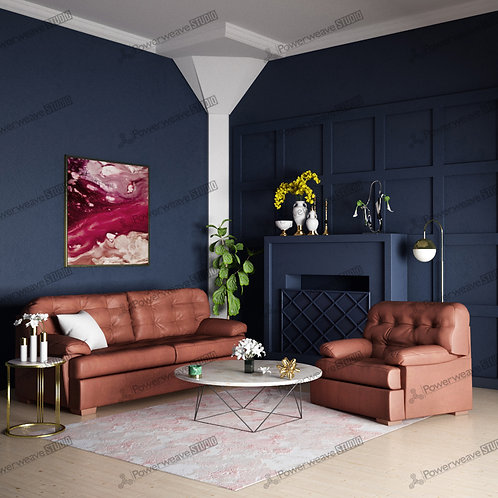Colonial Style Living Room with Classic Sofa