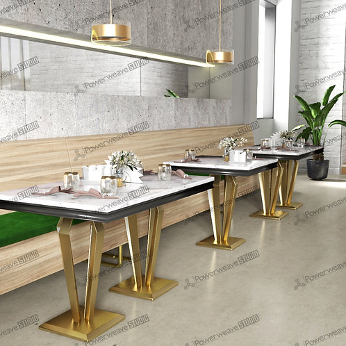 Elegant Industrial Dining Set Up
