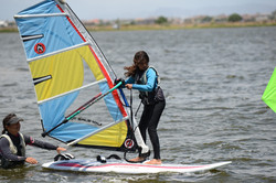 Windsurfing in Cape Town - Tack!