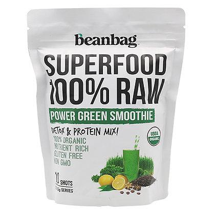 ผงผักพาวเวอร์กรีนสมูทตี้ Organic (15 g x 10 ซอง)