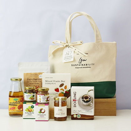 Healthy Gift (Two Tone Canvas Bag )