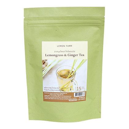 ชาสมุนไพรตะไคร้ผสมขิง (2g x15ซอง)