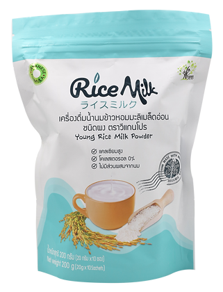 เครื่องดื่มน้ำนมข้าวหอมมะลิเมล็ดอ่อนชนิดผง(20gx10ซอง)
