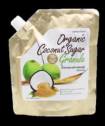 น้ำตาลมะพร้าวอินทรีย์ชนิดเกล็ด 450g