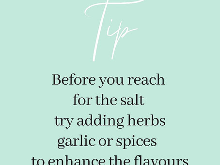 Before you reach for the salt...
