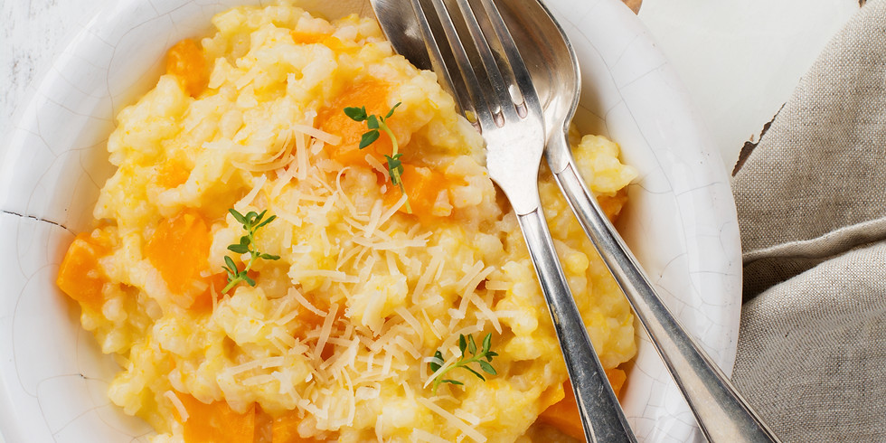 Oven Baked Pumpkin Risotto - Kids Pantry Online Cooking Class