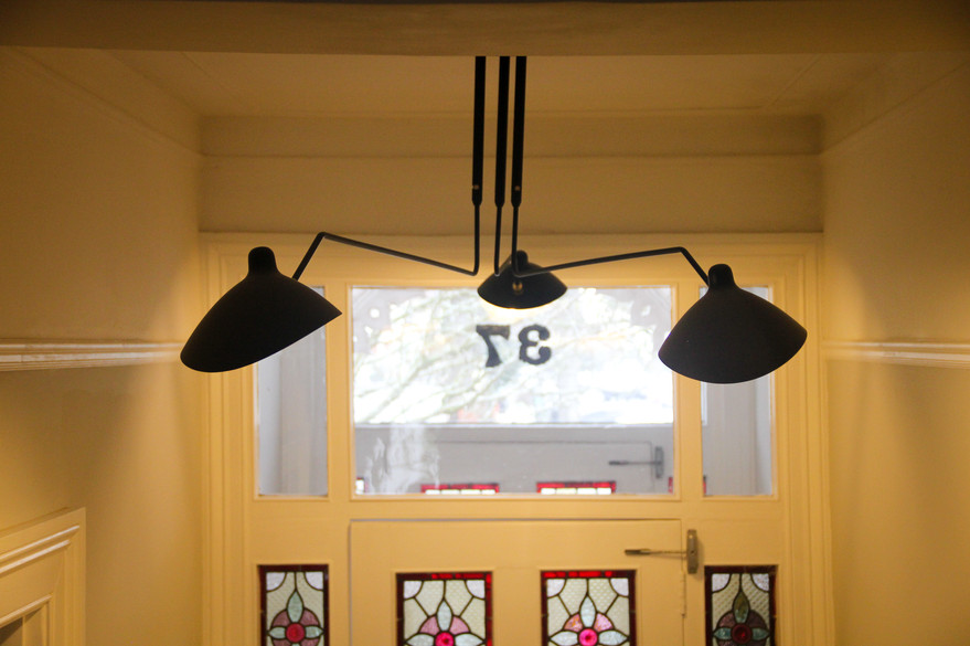 Feature Hall lighting from Serge Mouille