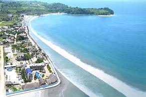 Vista aerea de Mompiche Esmeraldas