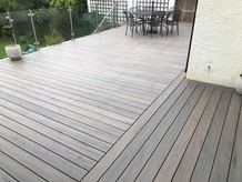 Raised composite decking & Balustrades