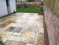 Riven Sandstone patio