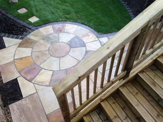 Riven Sandstone Feature patio pack