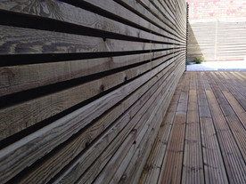 Bepsoke Screening and softwood decking