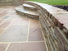 Sandstone retaining walling & Steps
