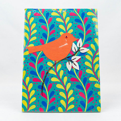 Recycled Birdie Notebook