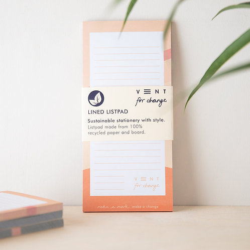 VENT for Change Recycled Slim List Pad