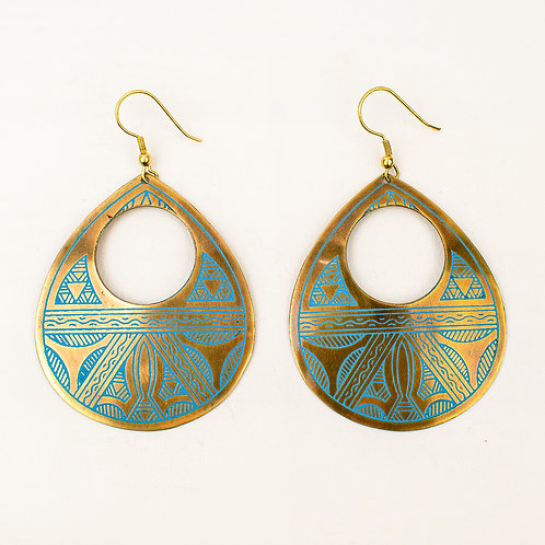 Cutout Teardrop Earrings