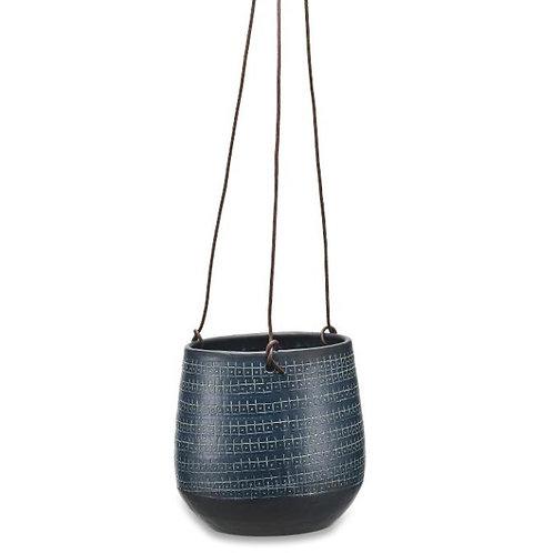 Nkuku Large Mahika Hanging Planter - Black