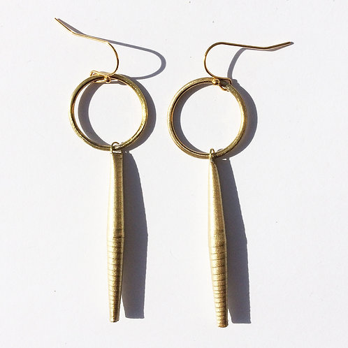 Quazi Design Gold Circle Drop Earring
