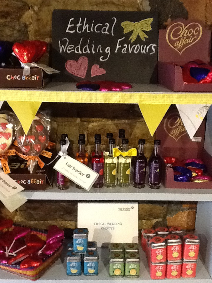 Ethical wedding favours
