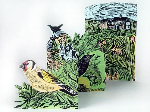 Art Angels Pop-Out Garden Birds Card