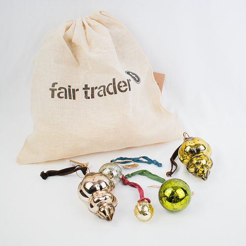 Recycled Baubles in Gift Bag