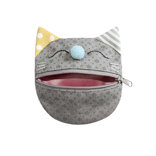 Earth Squared Floral Canvas Cat Purse