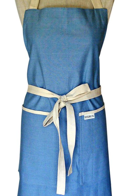 Sterck& Company Full Apron - Carom Plain Denim - Blue - XL