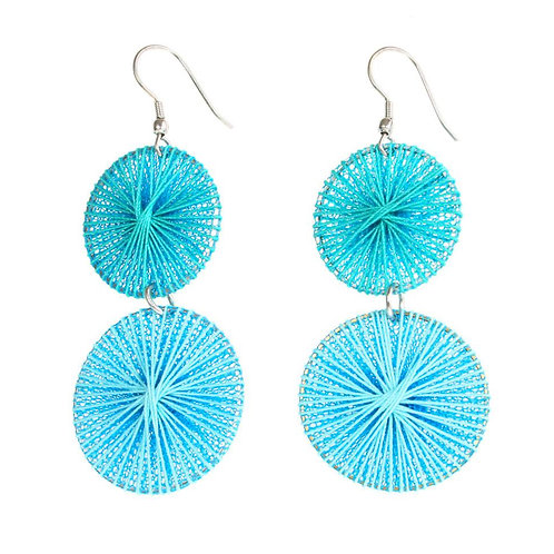 Earrings - Turquoise Thread