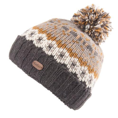 KuSan Turn Up Bobble Hat