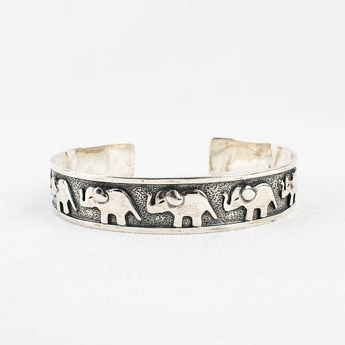 Pachamama Sterling Silver Elephant Bracelet