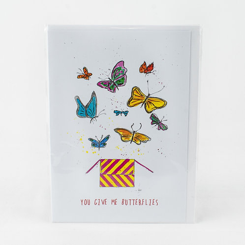 The Proverbial Hare Butterflies Card