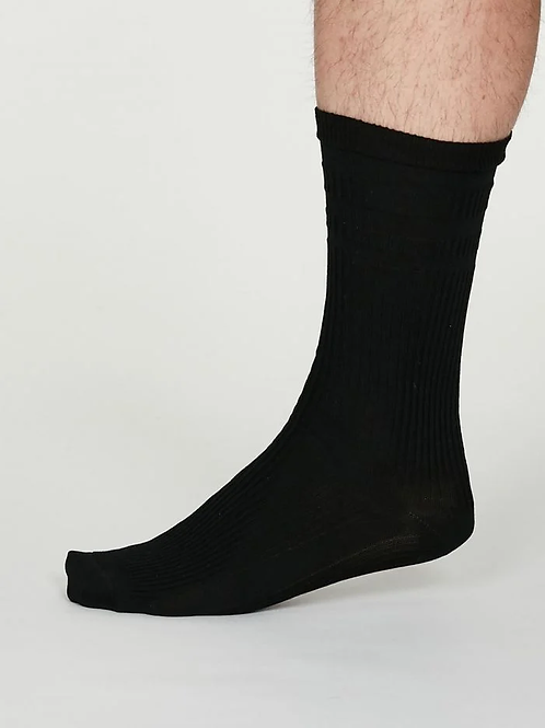 Thought Benedict Seacell Diabetic Socks - Black (Men's)