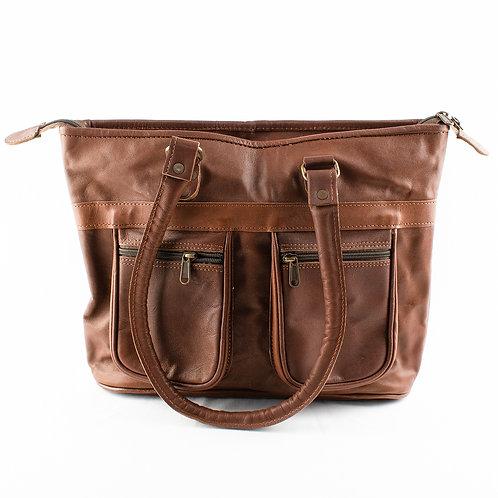 Paper High Leather Shoulder Bag