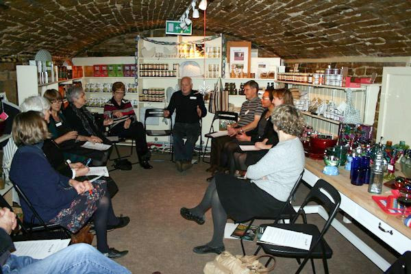 A volunteers meeting in the Toll House cavern