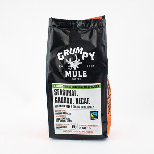 Grumpy Mule Organic Seasonal Decaffeinated Coffee