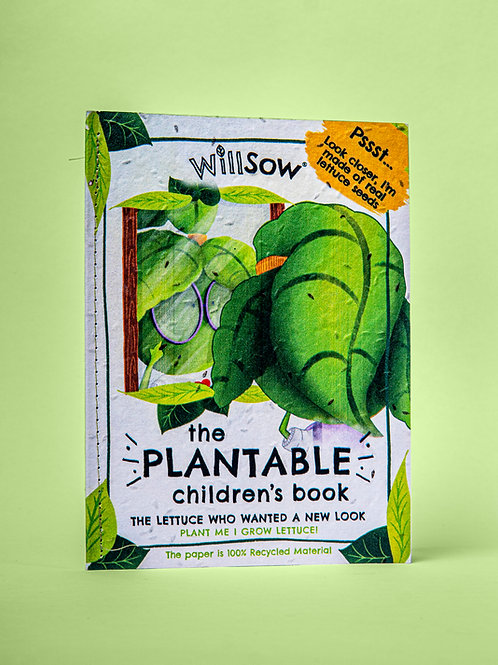 Willsow Plantable Children's Book: The Lettuce Who Wanted a New Look