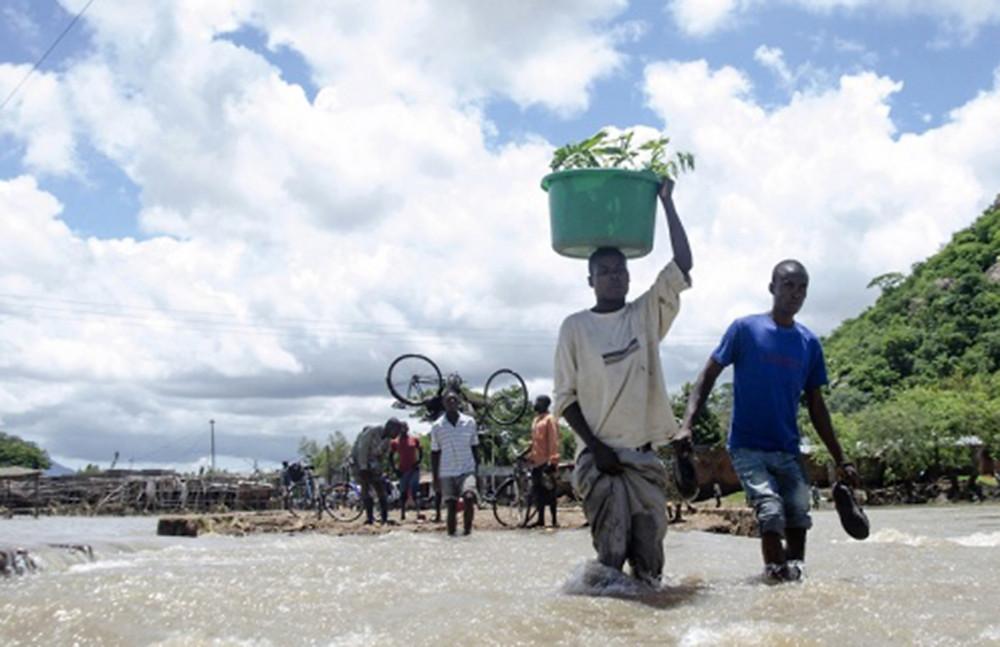 A scene of devastation in Blantyre, Malawi