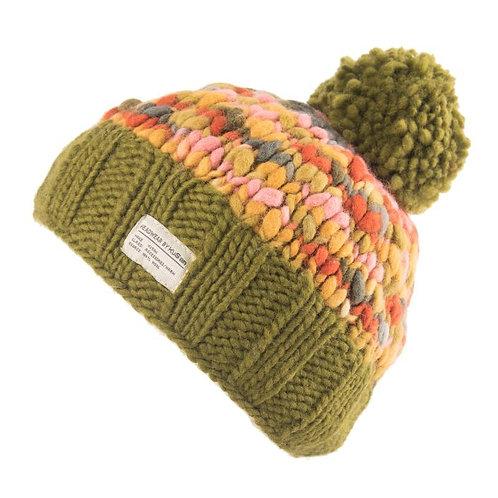 KuSan Thick Knit Uneven Yarn Bobble Hat